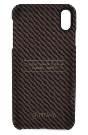 Мужской чехол для iphone xs max PITAKA коричневого цвета, арт. KI9006XM | Фото 2