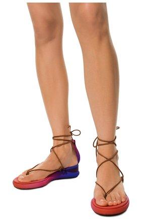 Текстильные сандалии Wave Chloé фиолетовые   Фото №3