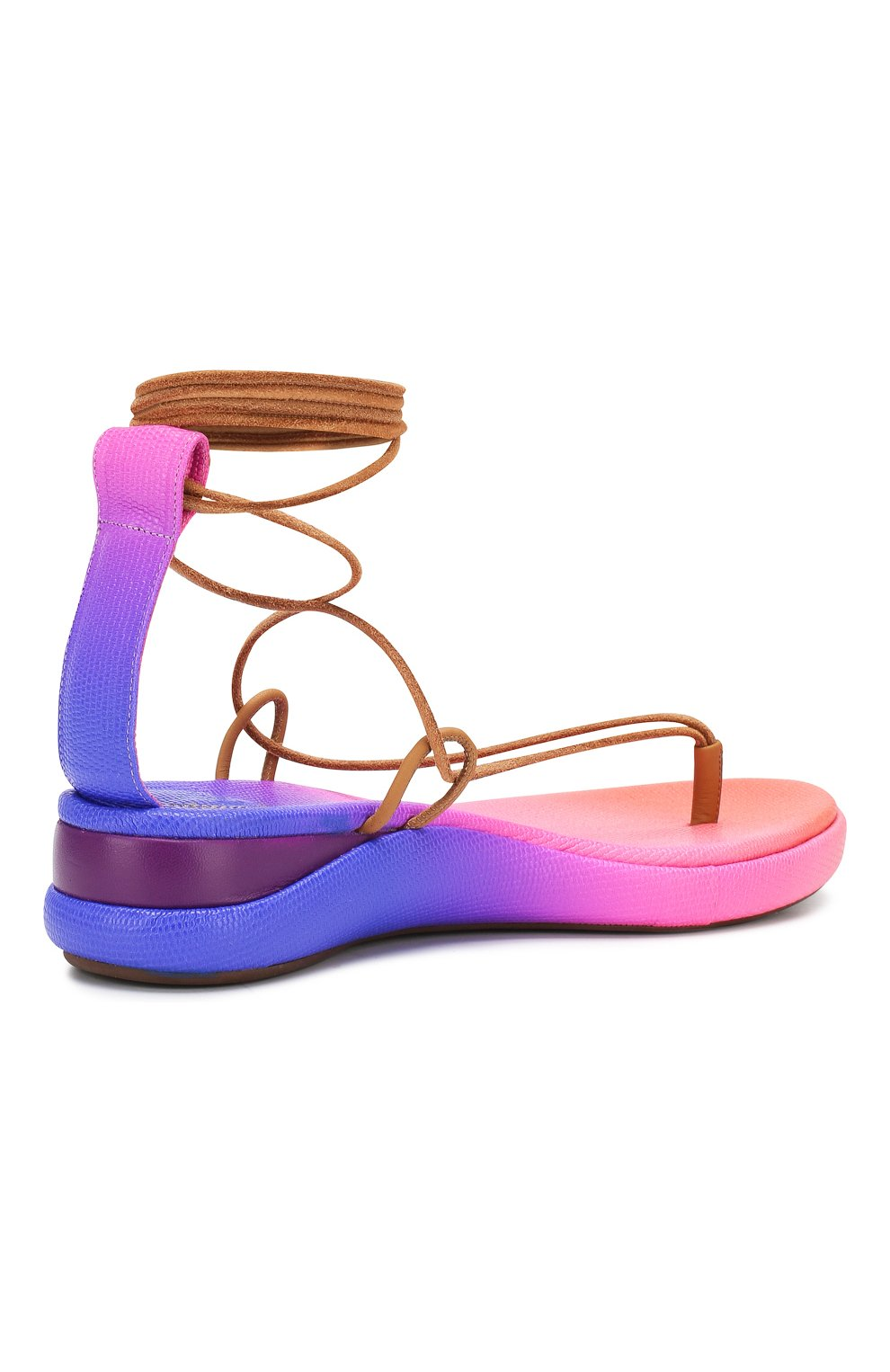 Текстильные сандалии Wave Chloé фиолетовые   Фото №4
