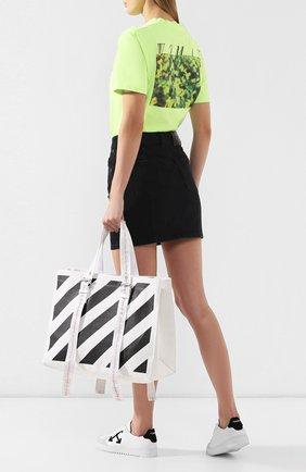 Женская сумка-тоут diag OFF-WHITE черно-белого цвета, арт. 0WNA077S19D990670110 | Фото 2
