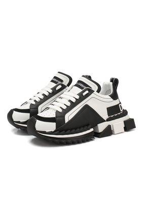 Кожаные кроссовки Superqueen | Фото №1