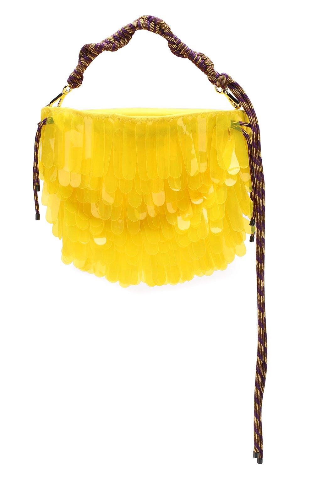 Женская текстильная сумка DRIES VAN NOTEN желтого цвета, арт. 191-11517-187 | Фото 1