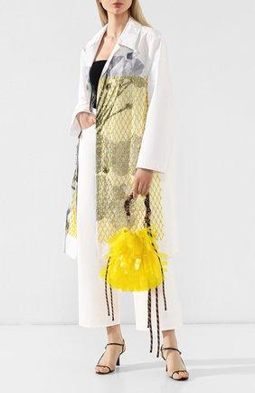 Женская текстильная сумка DRIES VAN NOTEN желтого цвета, арт. 191-11517-187 | Фото 2