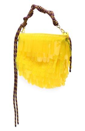 Женская текстильная сумка DRIES VAN NOTEN желтого цвета, арт. 191-11517-187 | Фото 3