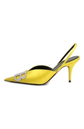 Текстильные туфли BB Balenciaga желтые | Фото №3