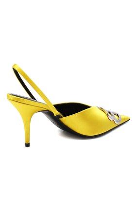 Текстильные туфли BB Balenciaga желтые | Фото №4