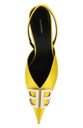 Текстильные туфли BB Balenciaga желтые | Фото №5