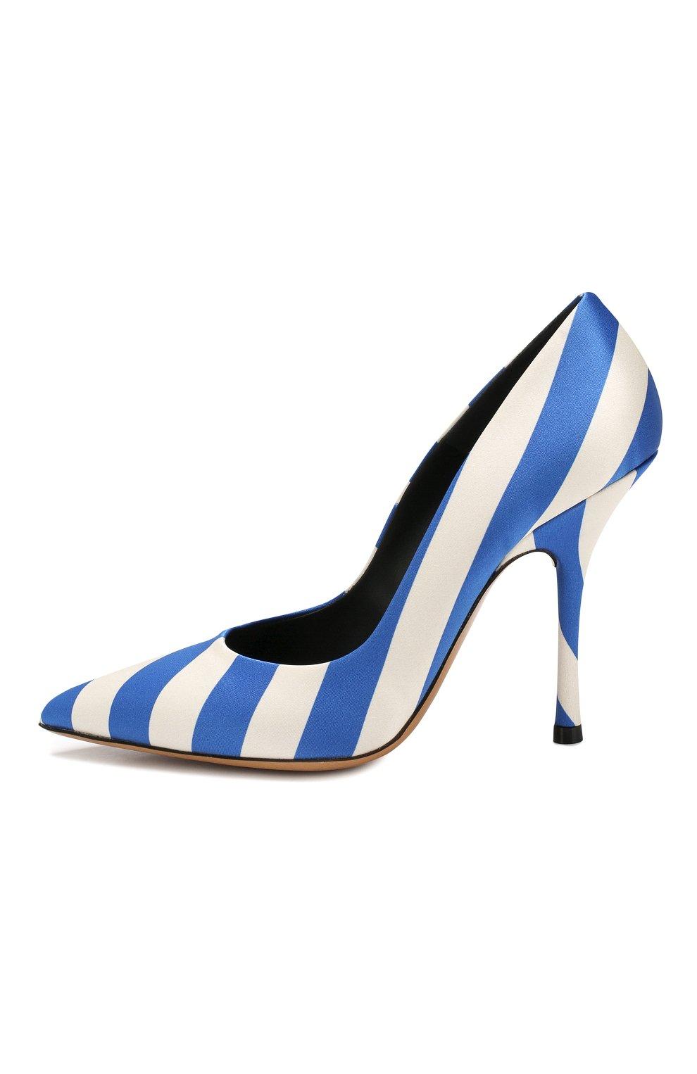 Текстильные туфли Dries Van Noten синие   Фото №3