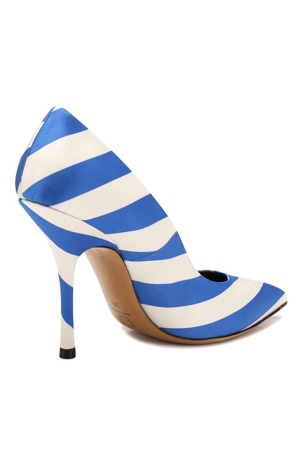 Текстильные туфли Dries Van Noten синие   Фото №4