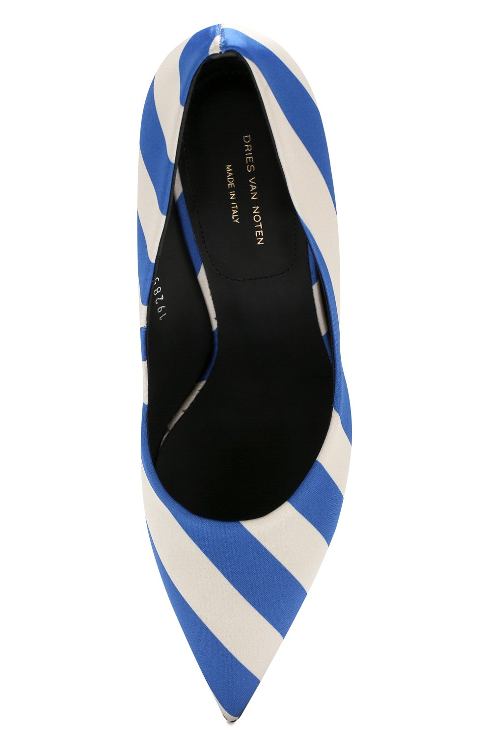 Текстильные туфли Dries Van Noten синие   Фото №5