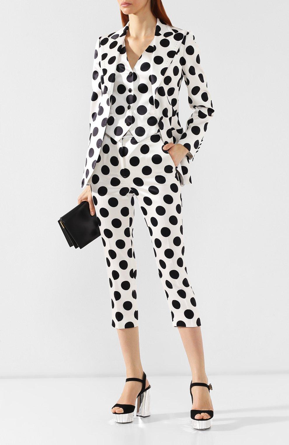 Текстильные босоножки Keira Dolce & Gabbana черные | Фото №2