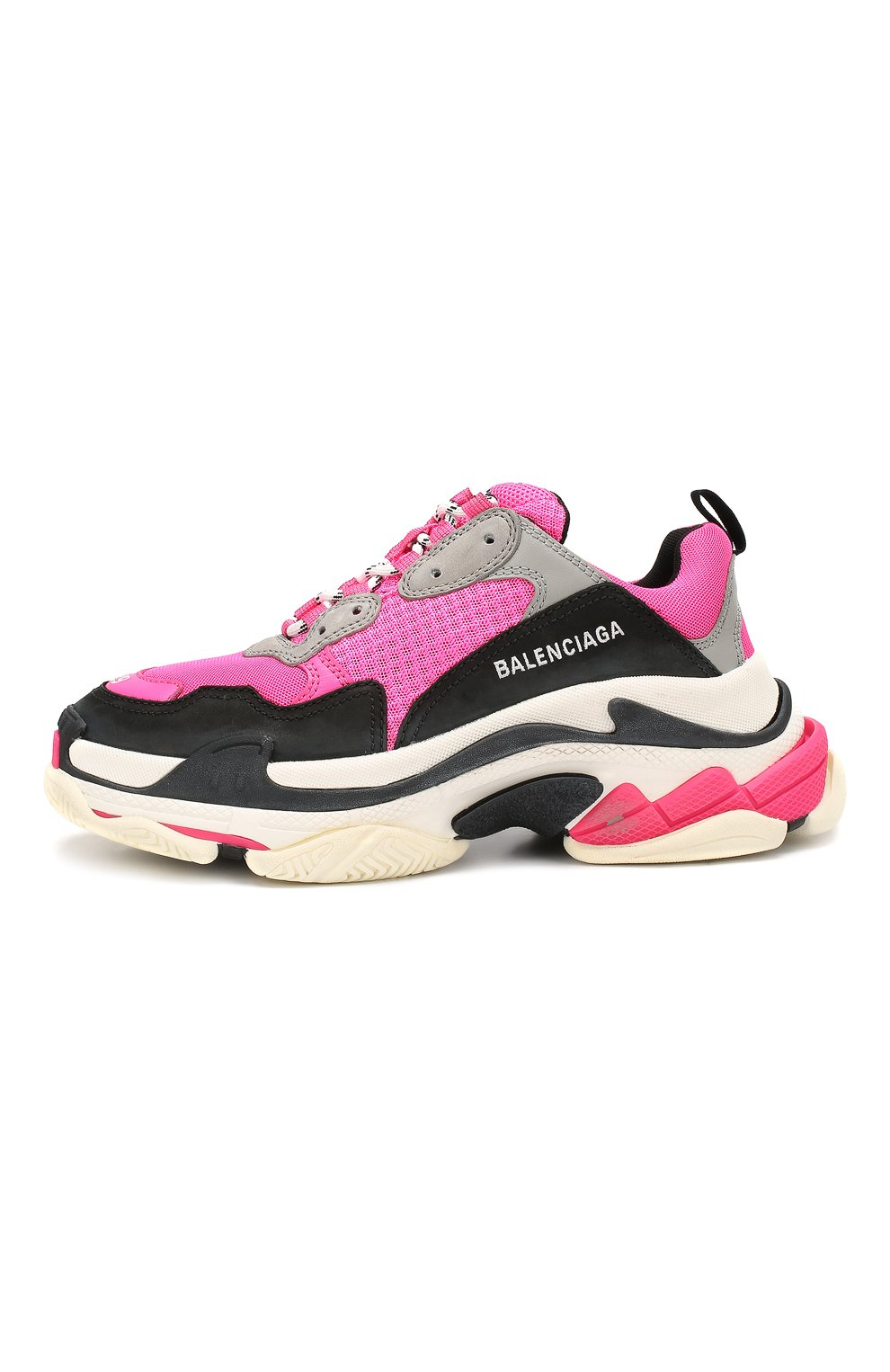 Женские комбинированные кроссовки triple s BALENCIAGA розового цвета, арт. 524039/W090H | Фото 3