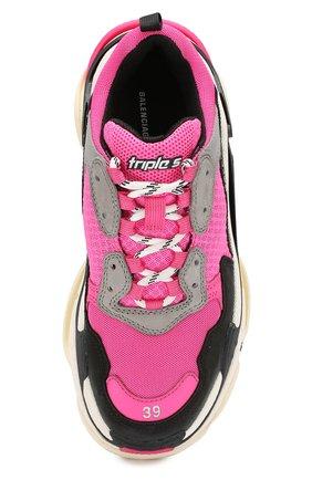 Женские комбинированные кроссовки triple s BALENCIAGA розового цвета, арт. 524039/W090H | Фото 5