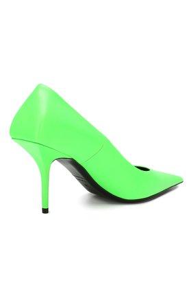 Кожаные туфли Square Knife Balenciaga зеленые | Фото №4