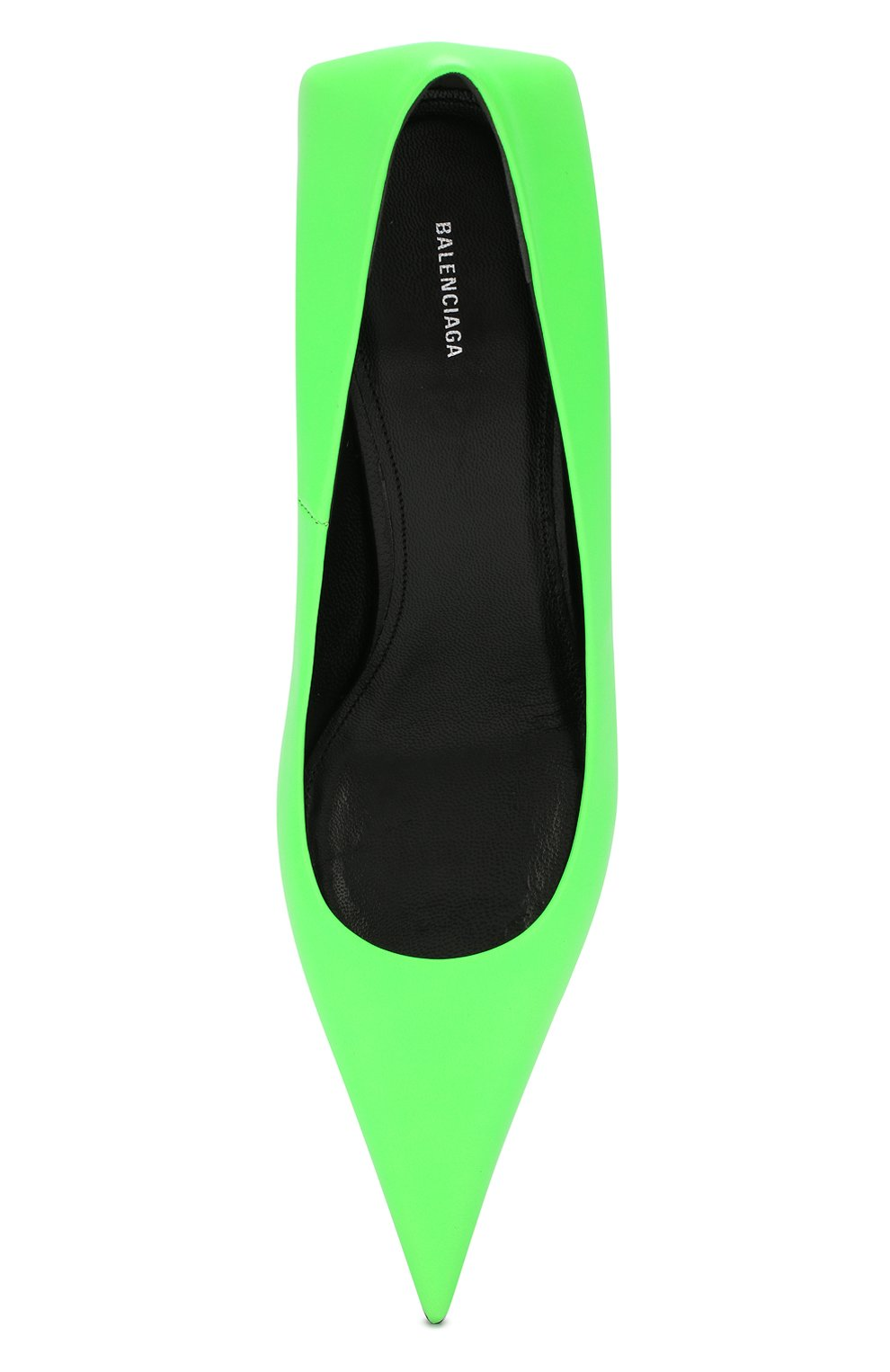 Кожаные туфли Square Knife Balenciaga зеленые | Фото №5