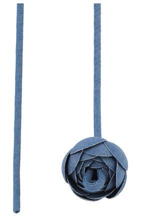 Женское колье кувшинка FLOWER ME синего цвета, арт. LILI-DE018010M | Фото 2