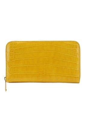 Женские кошелек из кожи крокодила RUBEUS MILANO желтого цвета, арт. арт. 06 | Фото 1