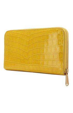 Женские кошелек из кожи крокодила RUBEUS MILANO желтого цвета, арт. арт. 06 | Фото 2