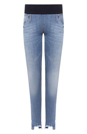Женские джинсы с эластичным поясом PIETRO BRUNELLI голубого цвета, арт. JPH043/DE0001 | Фото 1