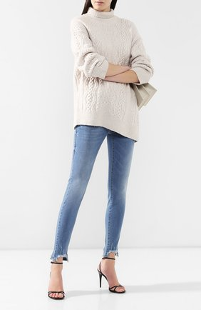Женские джинсы с эластичным поясом PIETRO BRUNELLI голубого цвета, арт. JPH043/DE0001 | Фото 2
