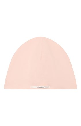 Детского хлопковая шапка LA PERLA розового цвета, арт. 50970 | Фото 2