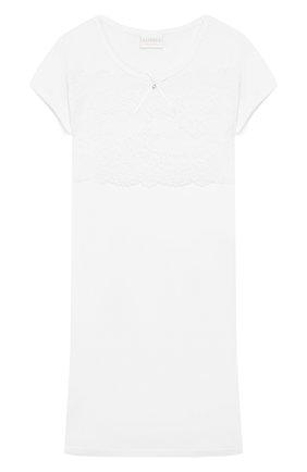 Детская хлопковая сорочка LA PERLA белого цвета, арт. 51723/2A-6A | Фото 1