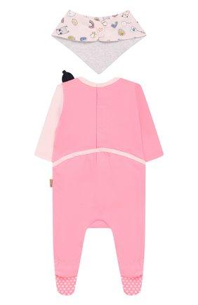 Детский комплект из пижамы и нагрудника MARC JACOBS (THE) розового цвета, арт. W98124 | Фото 2