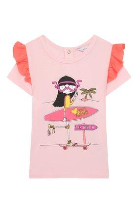 Детский футболка MARC JACOBS (THE) розового цвета, арт. W05248/6M-18M | Фото 1