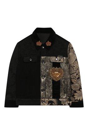 Джинсовая куртка с отделкой | Фото №1