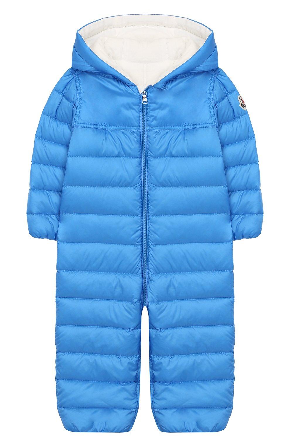Детский пуховый комбинезон MONCLER ENFANT голубого цвета, арт. E1-951-14366-05-53048/18M-3A | Фото 1