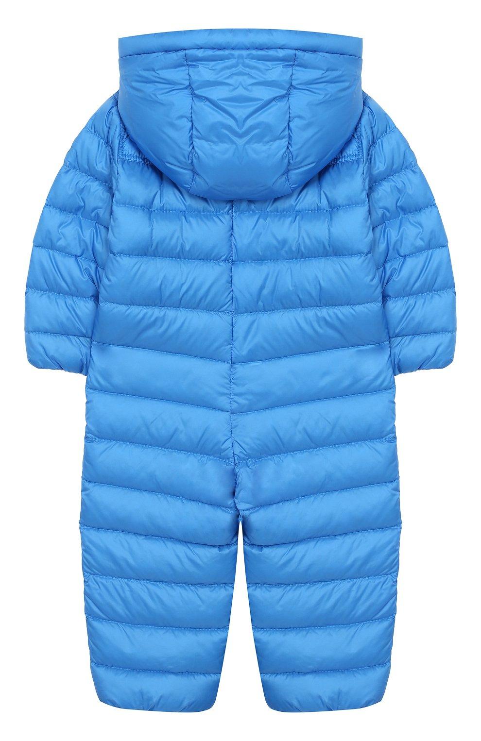 Детский пуховый комбинезон MONCLER ENFANT голубого цвета, арт. E1-951-14366-05-53048/18M-3A | Фото 2