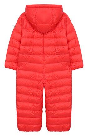 Детский пуховый комбинезон MONCLER ENFANT кораллового цвета, арт. E1-951-14366-05-53048/18M-3A | Фото 2