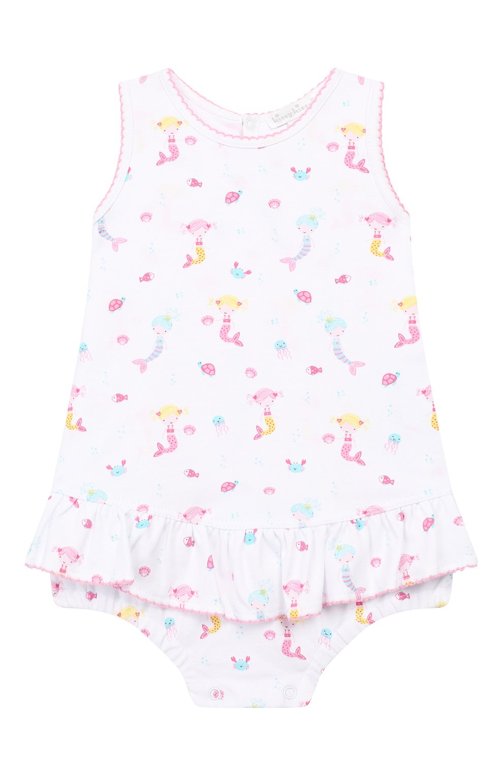 Детское хлопковое платье KISSY KISSY розового цвета, арт. KGD01113I | Фото 1