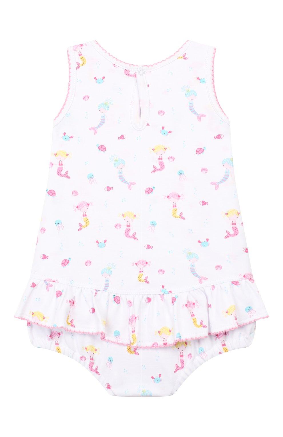Детское хлопковое платье KISSY KISSY розового цвета, арт. KGD01113I | Фото 2