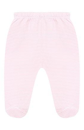 Детские хлопковые ползунки KISSY KISSY розового цвета, арт. 44107 | Фото 1