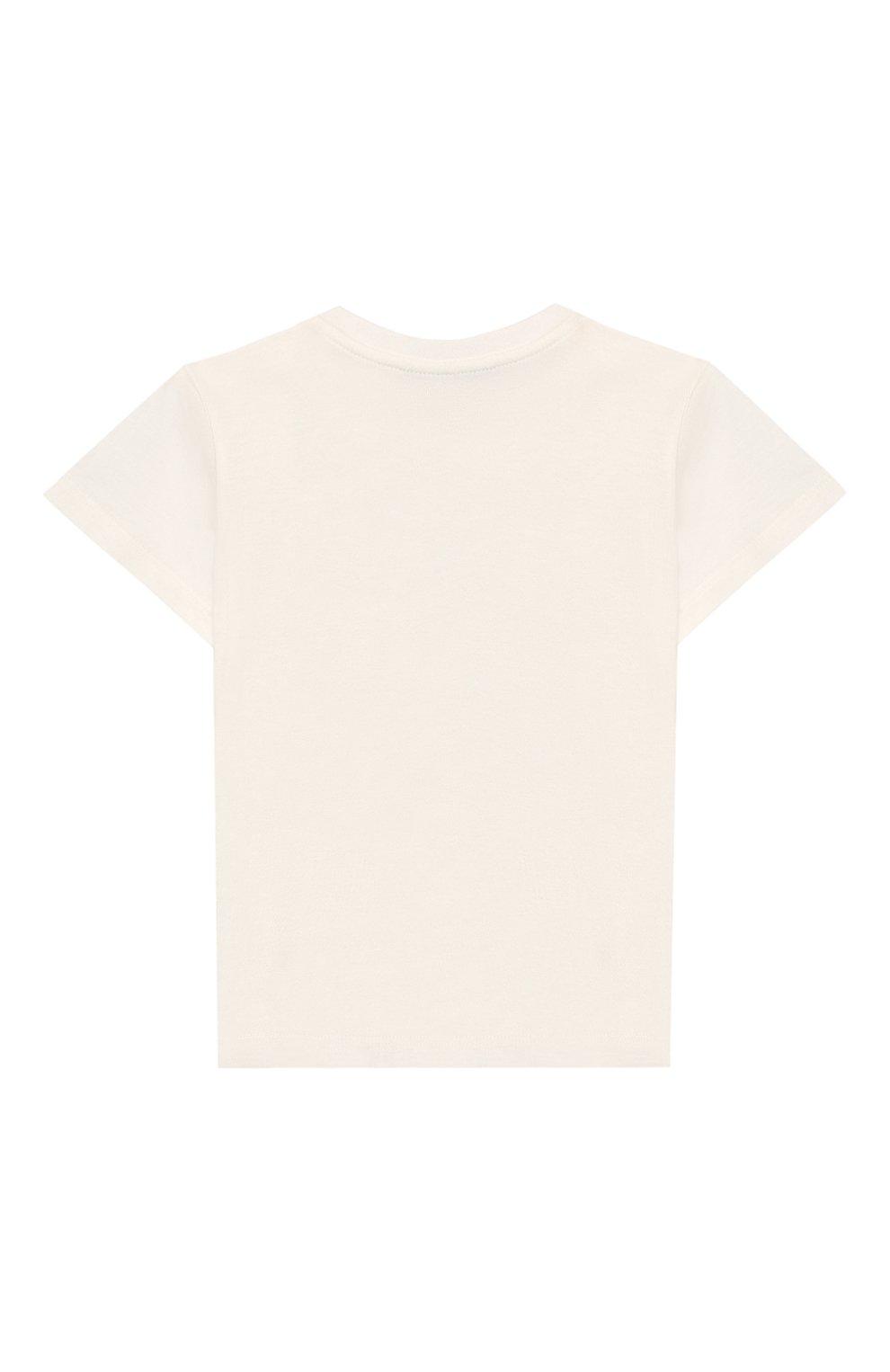 Детский хлопковая футболка GUCCI белого цвета, арт. 548034/XJAJF | Фото 2