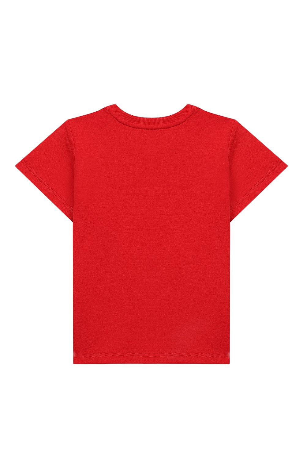 Детский хлопковая футболка GUCCI красного цвета, арт. 548034/XJAJF | Фото 2
