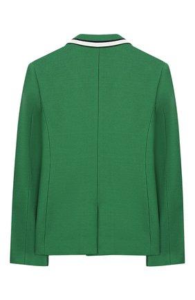 Детский хлопковый пиджак GUCCI зеленого цвета, арт. 540714/XWABE | Фото 2