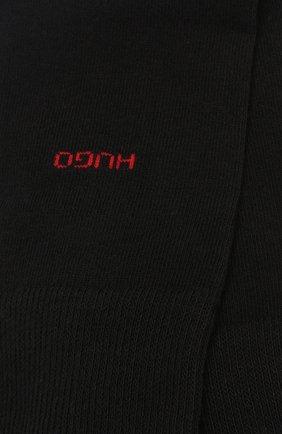 Мужские комплект из двух пар носков HUGO черного цвета, арт. 50401984 | Фото 2