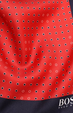 Мужской шелковый платок BOSS красного цвета, арт. 50412281 | Фото 2