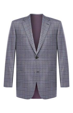 Мужской шерстяной пиджак BRIONI серого цвета, арт. RGI30M/P8A84/PARLAMENT0 | Фото 1