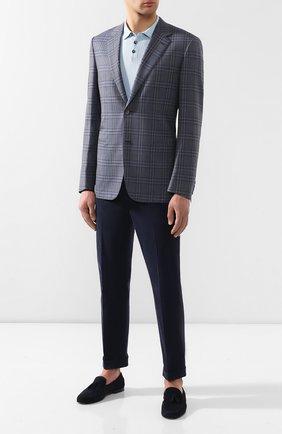 Мужской шерстяной пиджак BRIONI серого цвета, арт. RGI30M/P8A84/PARLAMENT0 | Фото 2