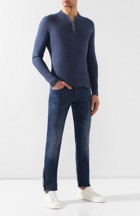 Мужские джинсы SARTORIA TRAMAROSSA темно-синего цвета, арт. MICHELANGEL0/D214/6M0NT/HERIT | Фото 2