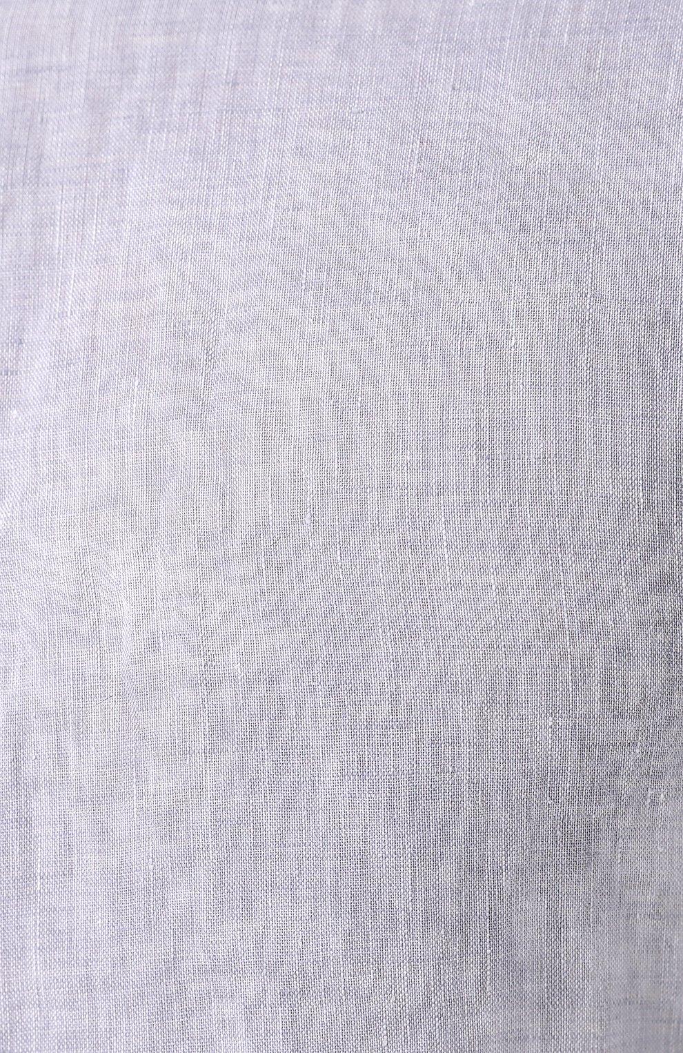 Мужская льняная рубашка GIORGIO ARMANI фиолетового цвета, арт. 8WGCCZ97/TZ243 | Фото 5