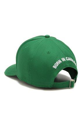 Мужской хлопковая бейсболка DSQUARED2 зеленого цвета, арт. BCM0185 08C00001 | Фото 2