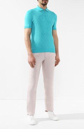 Мужской льняные брюки ZILLI светло-серого цвета, арт. M0R-D0270-LIN01/R001 | Фото 2