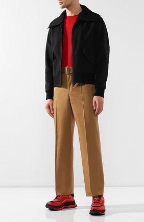 Мужские комбинированные кроссовки BERLUTI красного цвета, арт. S4781-003 | Фото 2