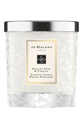 Мужская свеча ароматная english pear & freesia bridal edition JO MALONE LONDON бесцветного цвета, арт. L8CT-01 | Фото 1