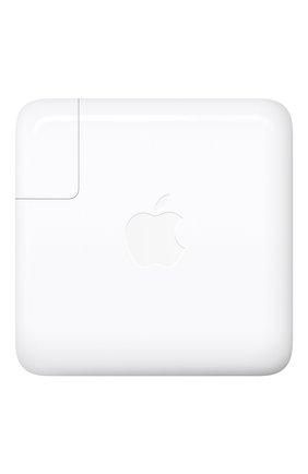 Мужской адаптер питания usb-c 87w APPLE  белого цвета, арт. MNF82Z/A | Фото 1