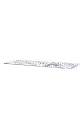 Мужского клавиатура magic keyboard с цифровой панелью APPLE  серебряного цвета, арт. MQ052RS/A | Фото 2